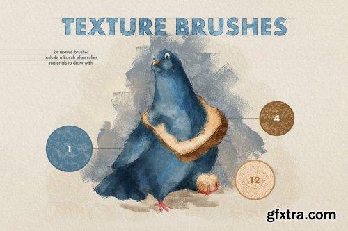 CreativeMarket - Texture Procreate Brushes 6505375