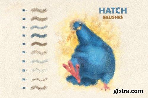 CreativeMarket - Spray & Hatch Procreate Brushes 6505326