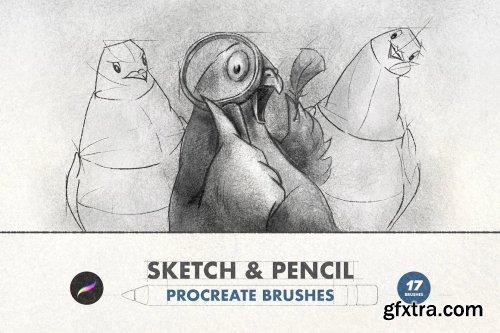 CreativeMarket - Sketch & Pencil Procreate Brushes 6505262