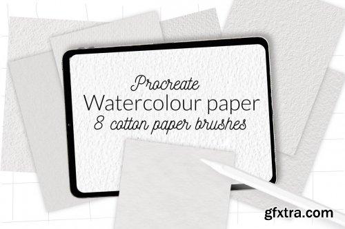 CreativeMarket - Procreate watercolor cotton paper 6135346