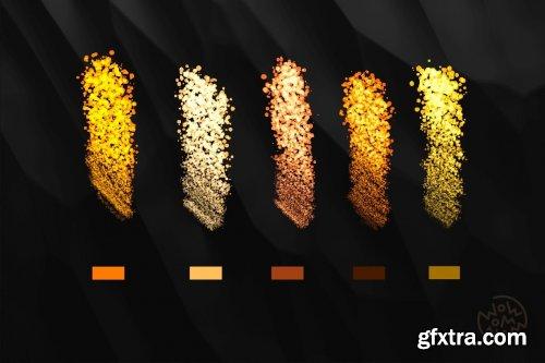 CreativeMarket - Golden Glitter | Procreate Brushes 6508870