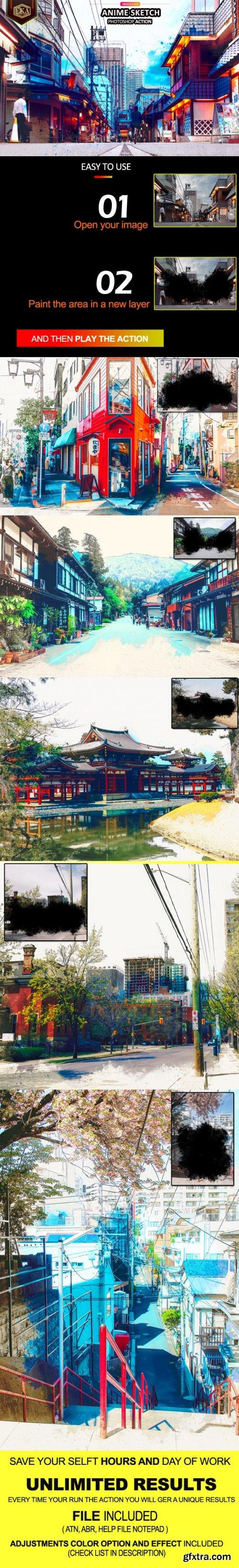GraphicRiver - Anime Sketch Photoshop Action 33451753