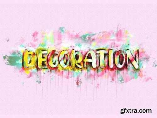 CreativeMarket - Watercolor Text Paint Plugin 6390155