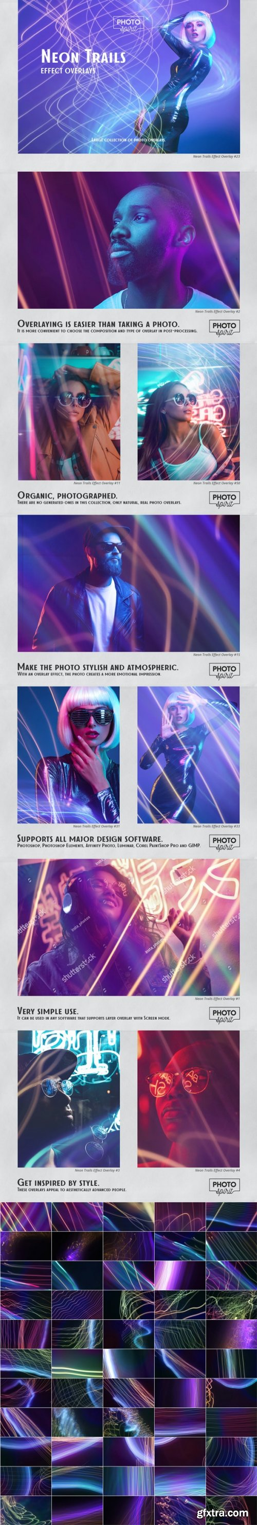 GraphicRiver - Neon Trails Overlays Effect 33110455