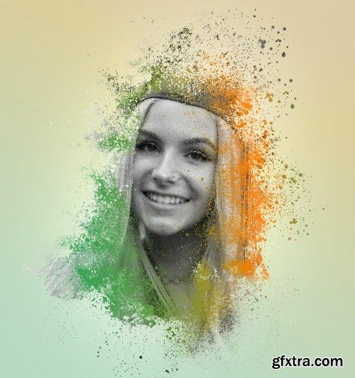 CreativeMarket - Colored Splash Photoshop Action 6218972