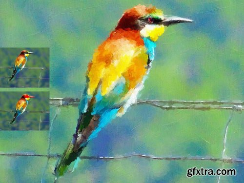 CreativeMarket - Canvas Oil Painting 6234840