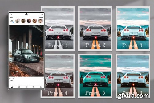 CreativeMarket - Automotive Lightroom Photoshop LUTs 6529006