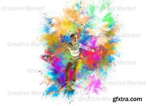 CreativeMarket - Color Dust Photoshop Action 6529236