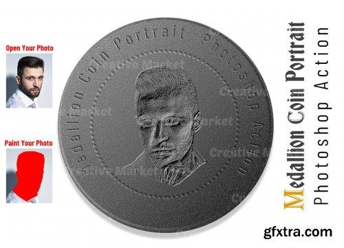 CreativeMarket - Medallion Coin Portrait PS Action 6530547