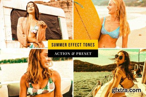 Summer Effect Tones Action & Lightroom Preset