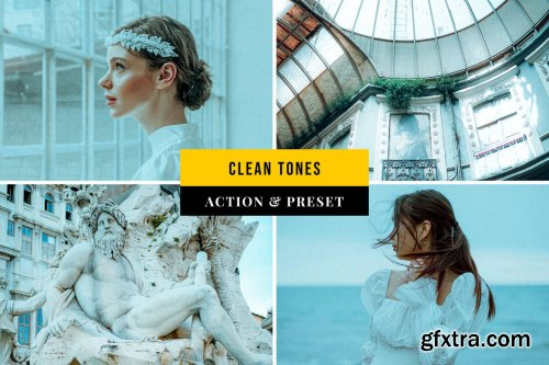 Clean Tones Action & Lightroom Preset