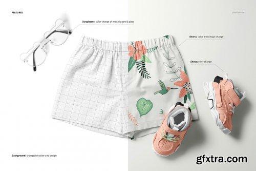 CreativeMarket - Baby & Kids Shorts Mockup Set 6503528