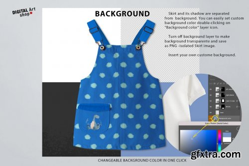 CreativeMarket - Baby Jeans Skirt Mock Up 6381098