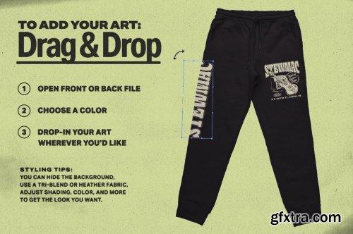 CreativeMarket - Sweatpants Merch Mockup 6365147