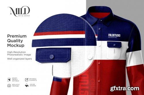 CreativeMarket - Men's workwear shirt set mockup 6359632