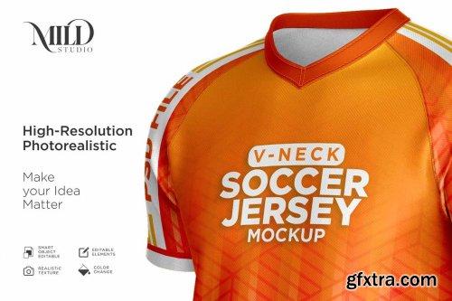 CreativeMarket - Men Soccer Jersey kit Mockup 6294910