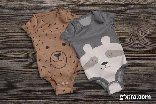 CreativeMarket - Baby Bodysuit Animated Mockup 6491561