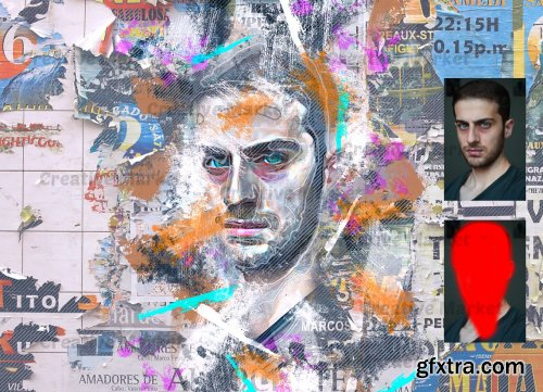 CreativeMarket - Collage Art Photoshop Action 6535731