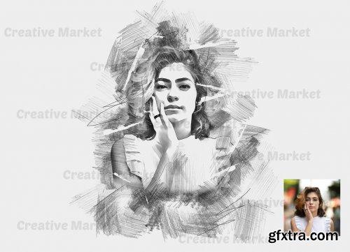 CreativeMarket - Sketching Photoshop Action 6533290