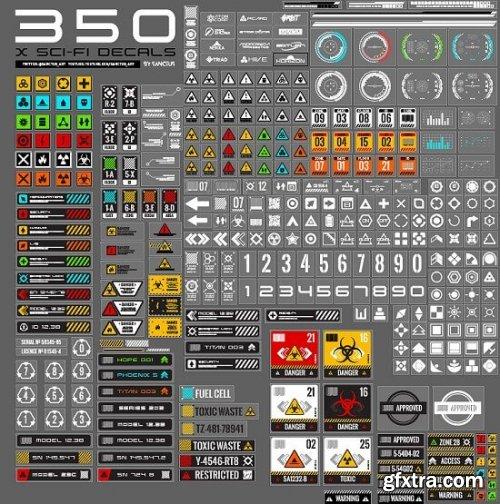 350 sci-fi decal pack (Decal Machine Ready)
