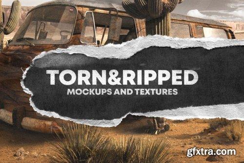 CreativeMarket - TORN&RIDDEP PAPER TEXTURE PACK 5810818