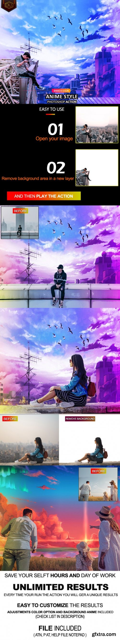 GraphicRiver - Anime Style Photoshop Action 33584300