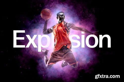 CreativeMarket - Space Explosion Photo Effect 6470081