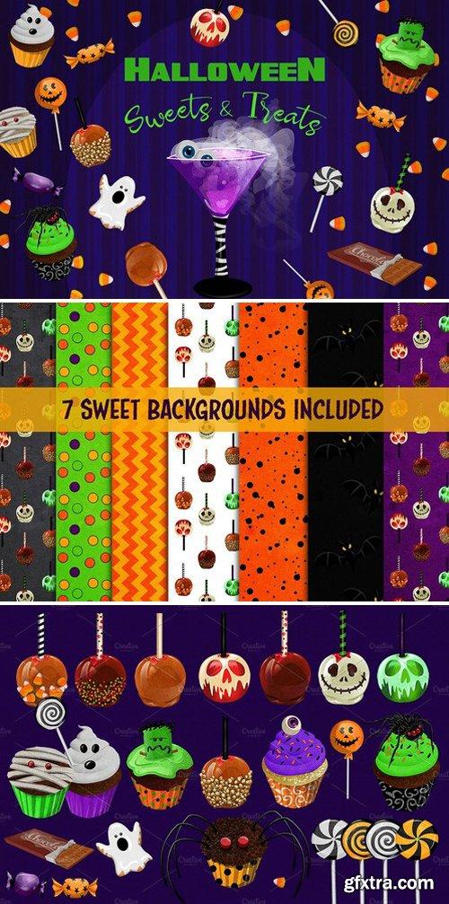 Halloween Sweets Treats Clipart