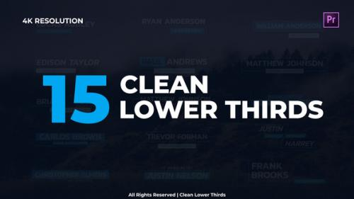 Videohive - Clean Lower Thirds - 29953354 - 29953354