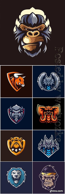 Vector мascot esport logo design vol 8