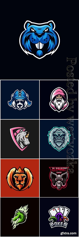 Vector мascot esport logo design vol 9