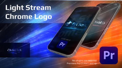 Videohive - Light Stream Chrome Logo For Premiere Pro - 34000017 - 34000017