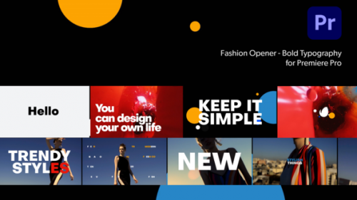 Videohive - Fashion Opener-Bold Typography for Premiere Pro - 34094134 - 34094134