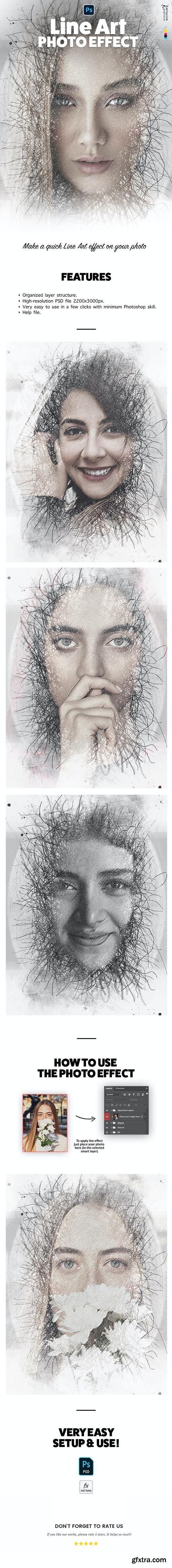 GraphicRiver - Line Art Photo Effect 33286989