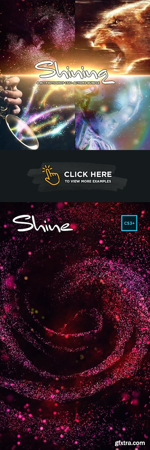 GraphicRiver - Shining 4 in 1 Bundle for Adobe Photoshop CS3+ 33801527