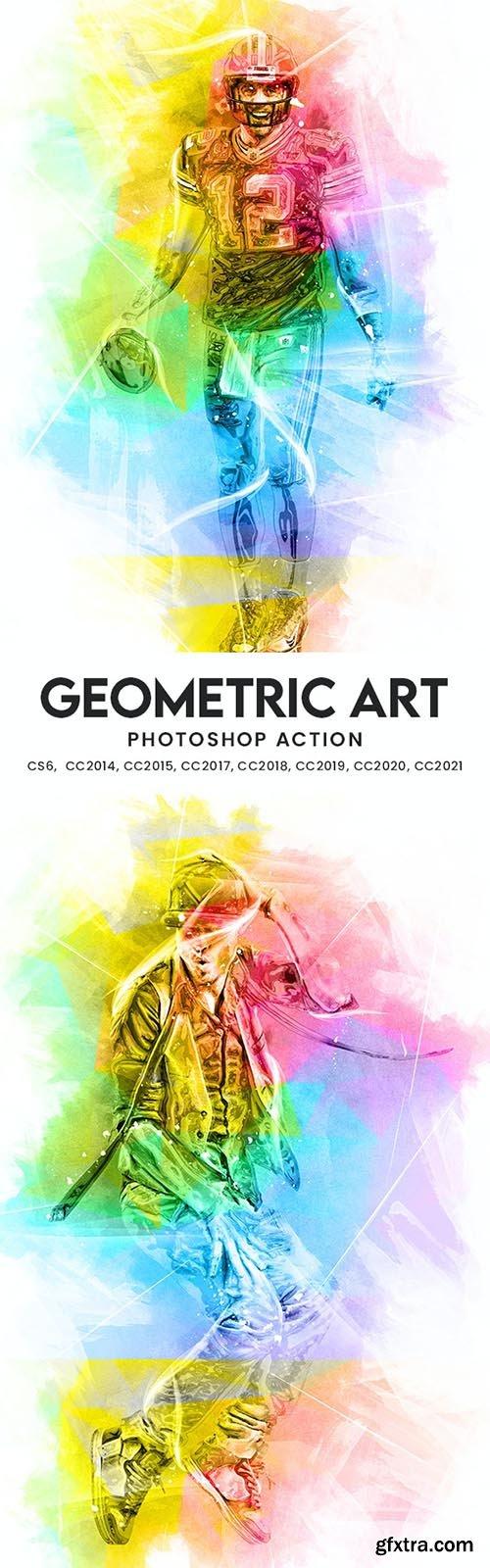GraphicRiver - Geometric Art Photoshop Action 33954727