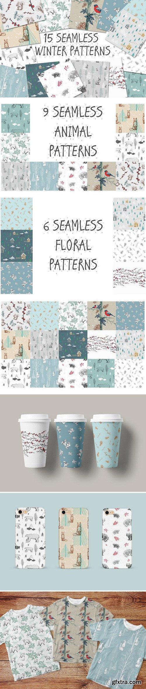 15 Seamless Winter Patterns
