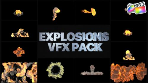 Videohive - Explosions Pack   FCPX - 34147117 - 34147117