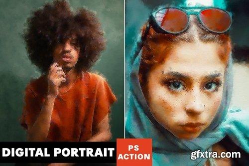 Digital Portrait Photoshop Action