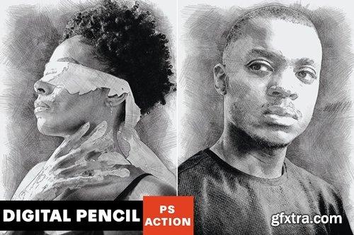Digital Pencil Photoshop Action