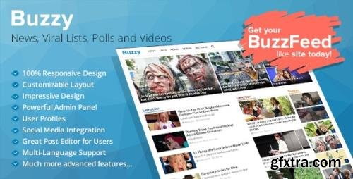 CodeCanyon - Buzzy v4.5.0 - News, Viral Lists, Polls and Videos - 13300279 - NULLED