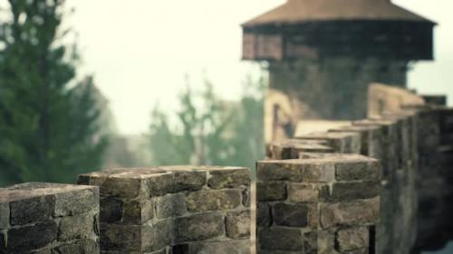 Videohive - Old Castle Walls at the Sunset - 34136926 - 34136926