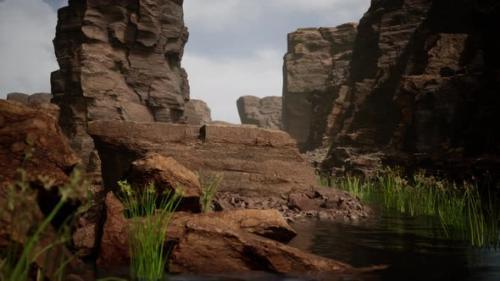 Videohive - Colorado River Cuts Through Rock at Grand Canyon - 34136943 - 34136943