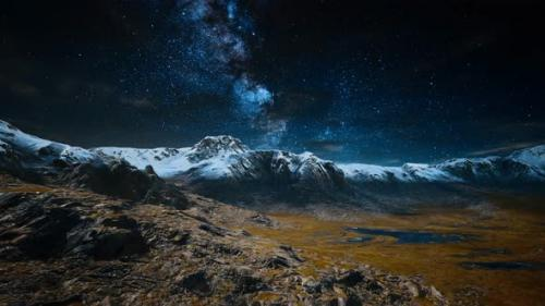 Videohive - Himalaya Mountain with Star in Night Time - 34136953 - 34136953