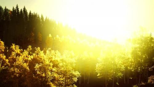 Videohive - Bright Sunset in the Mountains - 34137042 - 34137042