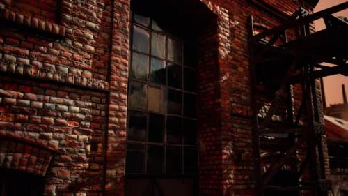 Videohive - Abandoned Industrial Buildings of Old Factory - 34137069 - 34137069
