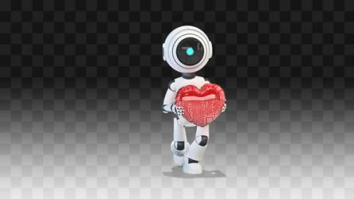 Videohive - Robot Dancing With A Heart - 34145825 - 34145825