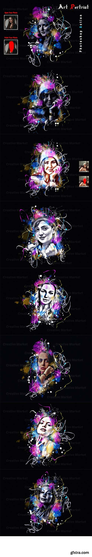 CreativeMarket - Art Portrait Photoshop Action 6569458