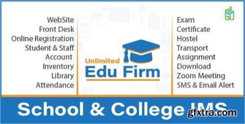 CodeCanyon - Unlimited Edu Firm School & College Information Management System v2.0 (Update: 30 June 21) - 21850988