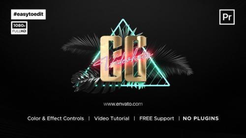 Videohive - Synthwave Logo Reveal - 34200773 - 34200773